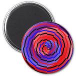 Imanes espirales contrarios rojos y azules