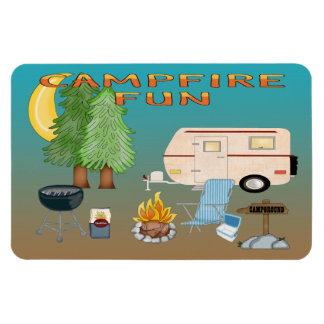 Imanes flexibles de la diversión que acampan
