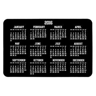 Imanes flexibles grandes del calendario 2016