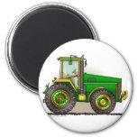 Imanes grandes verdes del tractor