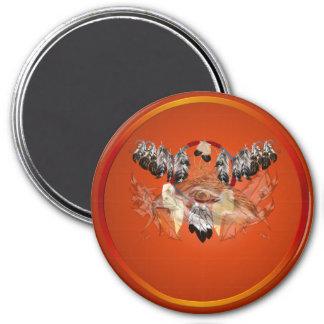 Imanes ideales de la cara del halcón del colector imán redondo 7 cm