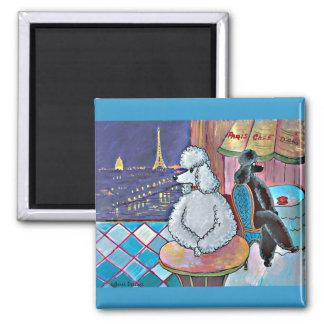 Imanes impresionistas del café de París de los Imán Cuadrado