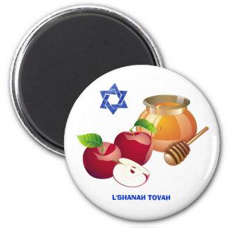 Imanes judíos del regalo del Año Nuevo de Rosh Imán Redondo 5 Cm