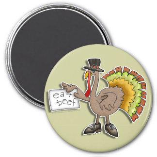 """Imanes - la acción de gracias Turquía """"come la Imán Redondo 7 Cm"""