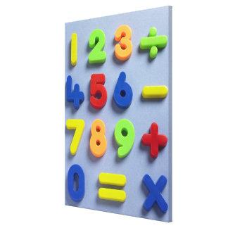 Imanes matemáticos impresión en lienzo