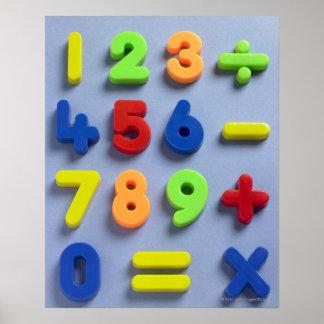 Imanes matemáticos póster
