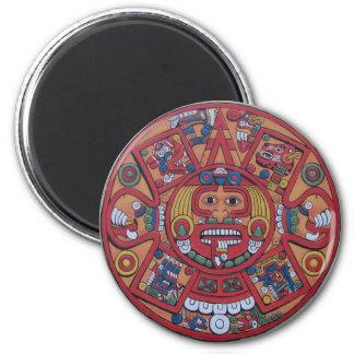 Imanes mayas del calendario imán redondo 5 cm