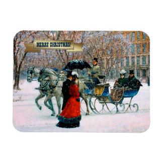 Imanes parisienses del regalo del navidad del