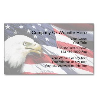 Imanes patrióticos de la tarjeta de visita tarjetas de visita magnéticas (paquete de 25)