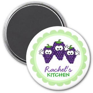 Imanes personalizados de la cocina imán redondo 7 cm