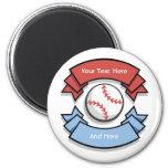 Imanes personalizados personalizado del béisbol imanes de nevera