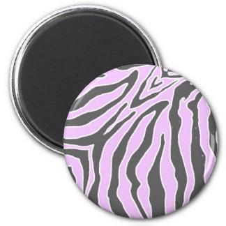 Imanes redondos de la cebra rosada y negra imán redondo 5 cm