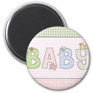 Imanes redondos del bebé: Colección dulce del bebé Imán Redondo 5 Cm