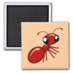 Imanes rojos del refrigerador de la hormiga del di imán de frigorifico