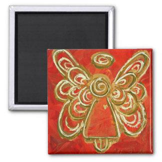 Imanes rojos y blancos del regalo del ángel de iman para frigorífico