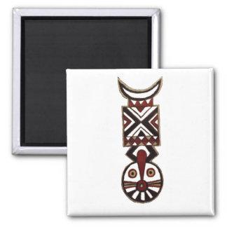 Imanes tribales africanos de Gift_Fridge del arte Imán Cuadrado