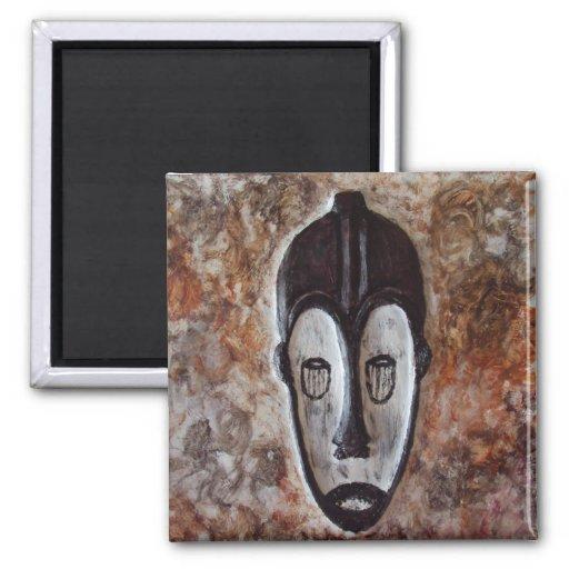 Imanes tribales africanos del refrigerador del reg iman