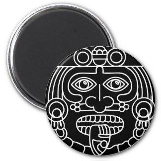 Imanes tribales aztecas de los imanes el | imán redondo 5 cm