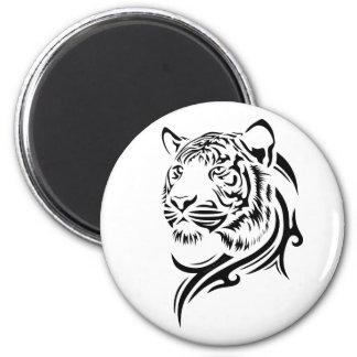 Imanes tribales del tigre del estilo imán redondo 5 cm
