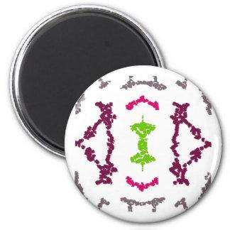 Imanes tribales femeninos del armario del imán redondo 5 cm