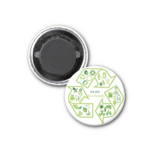 Imanes verdes ambientalmente respetuosos del medio imanes para frigoríficos