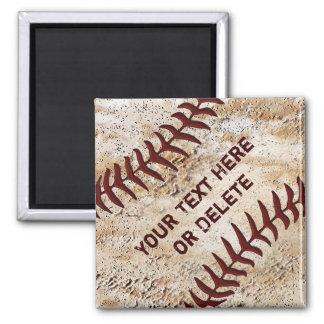 Imanes viejos del béisbol, encima de la costura imán cuadrado
