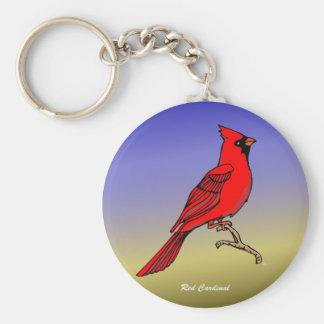 Imanes y instinto rojos del cardenal rev.2.0 llavero redondo tipo pin