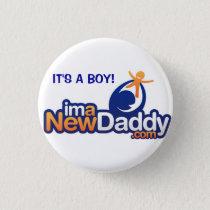ImANewDaddy It's A Boy Pinback Button