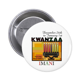 IMANI - Faith Pinback Buttons
