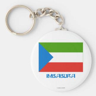 Imbabura flag with Name Keychain