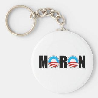 Imbécil anti de Obama Llavero Redondo Tipo Pin