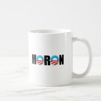 Imbécil anti de Obama Tazas De Café