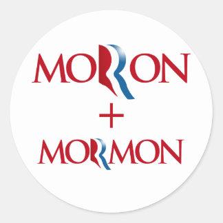 Imbécil y Mormon.png Pegatina Redonda