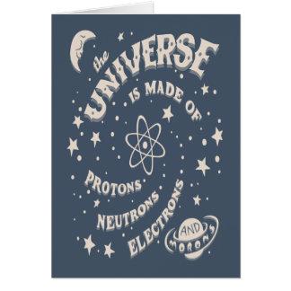 Imbéciles atómicos del universo tarjeta de felicitación