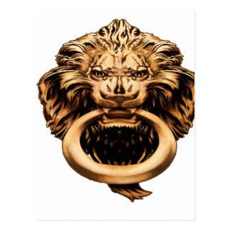 IMBH Lion Knocker 2ndEd Postcard