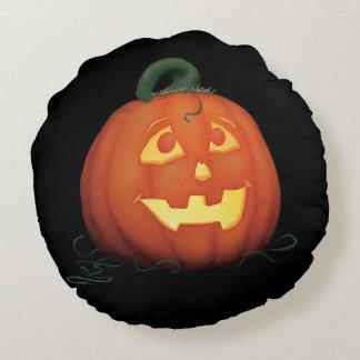 IMBH witch & Jack-o-lantern round pillow
