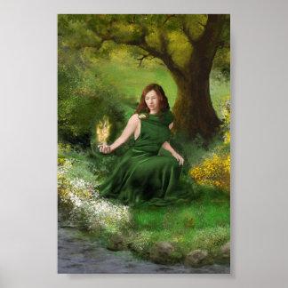 Imbolc Goddess Brigid Poster