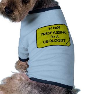 I'me que no viola, soy geólogo ropa perro