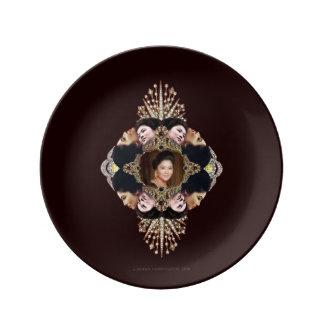 Imelda Glam-O-Gram Porcelain Plates