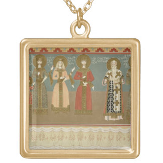 Imereth: frescoes from the Gelati Monastery, plate Gold Plated Necklace