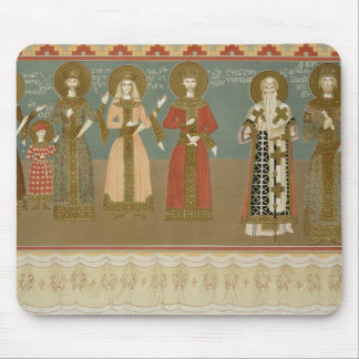 Imereth: frescoes from the Gelati Monastery, plate Mouse Pad