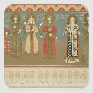 Imereth: frescoes from the Gelati Monastery, plate Stickers