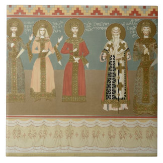 Imereth: frescoes from the Gelati Monastery, plate Tile