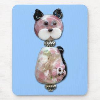 Pink Glass-Bead Cat