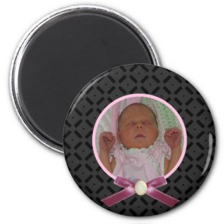 Black and Pink Photo Magnet