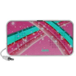 Pink and Aqua Speakers