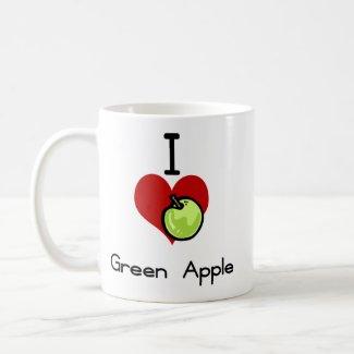 I love-heart green apple
