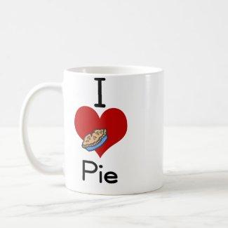 I love-heart pie