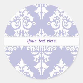 Lavendar and White Polkadot Sticker