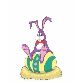 Jus Chillin' Easter Bunny on decorated egg